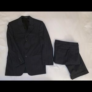 Men's pinstripe suit by Jones New York Collection.
